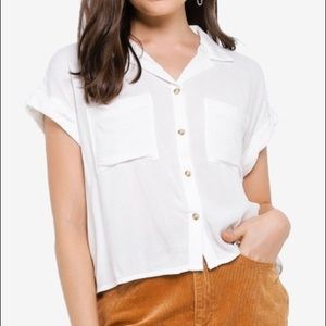 Cotton on short sleeved button up shirt